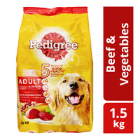 Pedigree Adult Dog Dry Food - Beef & Vegetables