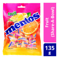 Mentos Chewy Mints - Fruit (Share-A-Bowl) 135G
