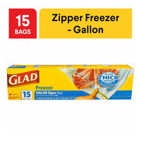 Glad Freezer Zipper Bags - Gallon