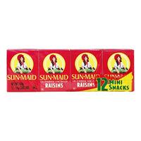 Sun-Maid Natural California Raisins - Mini Pack 12 x 14G