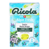 Ricola Natural Relief Swiss Herb Lozenges - Alpin Fresh (No Sugar)