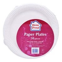 HomeProud Disposable Paper Plates (22.86cm)