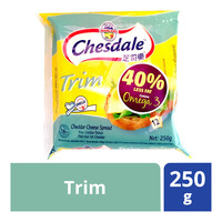 Chesdale Cheddar Cheese Slices - Trim 250G (12S)