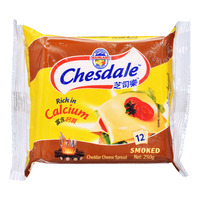 Chesdale Cheddar Cheese Slices - Smoked 250G (12S)