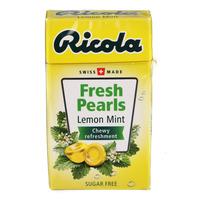 Ricola Fresh Pearls Sugar Free Candy - Lemon Mint