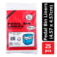 SKP A1 Pedal Bin Liners + Wired Closures (4.57 x 4.57cm)