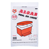Alsan Pedal Bin Liners (45.7 x 45.7cm)