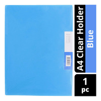 Star A4 Clear Holder - Blue