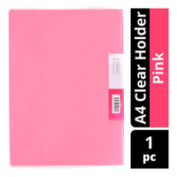 Star A4 Clear Holder - Pink