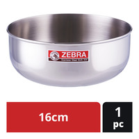 Zebra Stainless Steel Water Bowl - 16cm