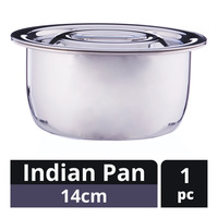 Zebra Stainless Steel Indian Pan - 14cm