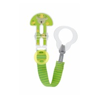 MAM Clip It! Baby Pacifier Holder - Green/Grey