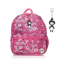 Zip n Zoe Junior Backpack - Floral Pink