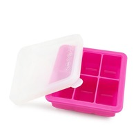 Haakaa Silicone Baby Food Freezer Tray - Pink
