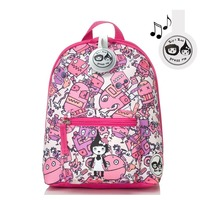 Zip n Zoe Mini Backpack - Robots Pink