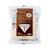 CAFEC Abaca Cone Filter Paper 1Cup (Brown)