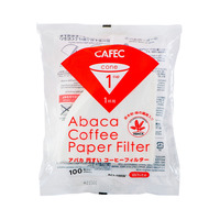 CAFEC Abaca Cone Filter Paper 1Cup (White)
