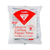 CAFEC Abaca Cone Filter Paper 4Cup (White)