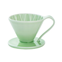 CAFEC Flower Dripper (Green) for 4 Cup