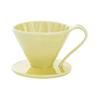 CAFEC Flower Dripper (Yellow) for 4 Cup