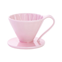 CAFEC Flower Dripper (Pink) for 4 Cup