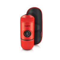 Nanopresso Lava Red Portable Espresso Maker + Hard Case