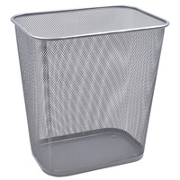 ALFAX PB516 Rectangle Mesh Dustbin W200xD300xH310mm Silver