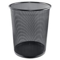 ALFAX LD01158 Round Mesh Dustbin D290xH350mm Black