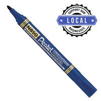 PENTEL MN850 Permanent Marker Bullet Tip Blue