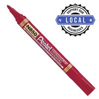 PENTEL MN850 Permanent Marker Bullet Tip Red