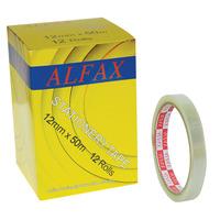 ALFAX 1250N Stationery Tape 12mmx50m 12rolls