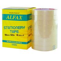ALFAX 1850N Stationery Tape 18mmx50m 8rolls