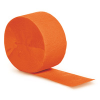 Creative Converting Orange 81 Feet Solid Crepe Streamer