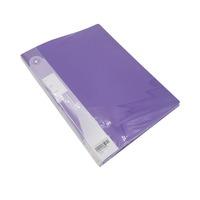 A4 Pocket File Purple 40 Tab