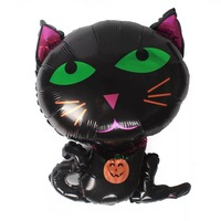 Aluminum Film Balloon - Black Cat