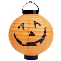 LED Paper Lantern - Pumpkin