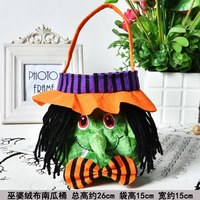 Flannel/Cloth Halloween Candy Handbag - Witch