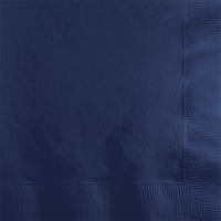 Creative Converting Navy Blue 2-Ply Beverage Napkins