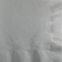 Creative Converting Silver 2-Ply Beverage Napkins