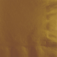 Creative Converting Gold 2-Ply Beverage Napkins