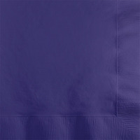 Creative Converting Purple 2-Ply Beverage Napkins