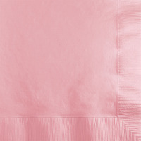 Creative Converting Pink 2-Ply Beverage Napkins