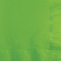 Creative Converting Lime Green 2-Ply Beverage Napkins