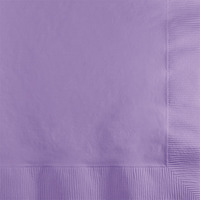 Creative Converting Lavender 2-Ply Beverage Napkins