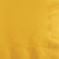 Creative Converting Yellow 2-Ply Beverage Napkins