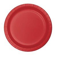 Creative Converting Red 7 Inch Dessert Plates