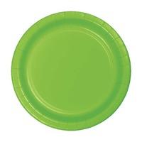 Creative Converting Lime Green 7 Inch Dessert Plates