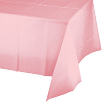 Creative Converting Pink Plastic Tablecover