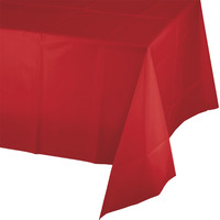 Creative Converting Red Plastic Tablecover