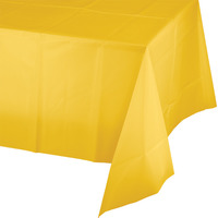 Creative Converting Yellow Plastic Tablecover